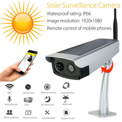 1080P HD Night Vision Solar Powered Wireless Outdoor Wifi IP Surveillance  !