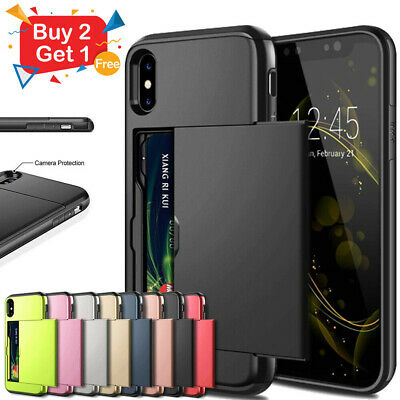 iPhone X XS Max XR iPhone 8 Plus iPhone 7 Plus MC Wallet Card Holder Case Cover