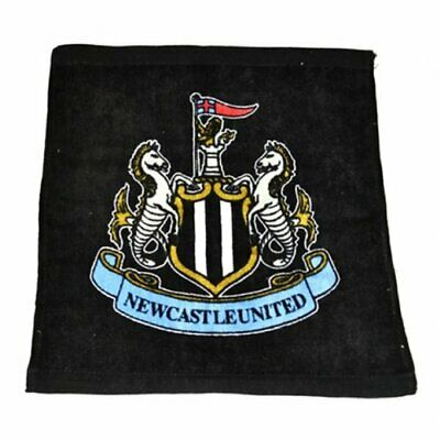 Official 100% Cotton NEWCASTLE UNITED F. C Face Cloth Towel Flannel BLACK