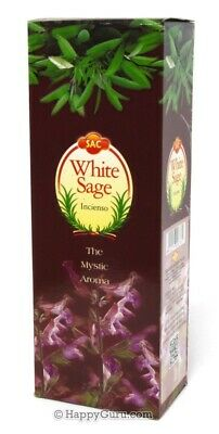 """White Sage"" 120 Incense Sticks Sandesh Brand (SAC) One Carton (6 Hex Boxes)"