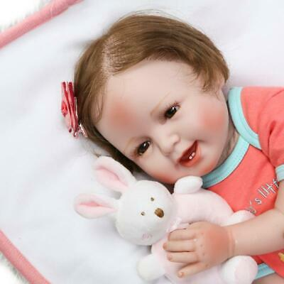 """Realistic 22"""" Reborn Toddler Cloth Doll Lifelike Baby Soft Silicone Vinyl Toy"""