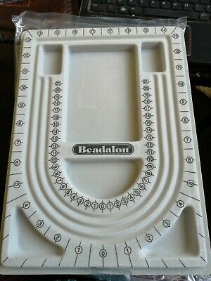 Beading Board by Beadalon with a Bead Mat -  Board new, Mat used vgc.