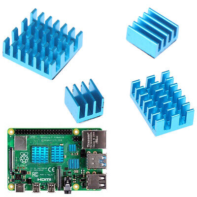 4pcs Aluminum Heatsink Radiator Cooler Kits for Raspberry Pi 4B FT