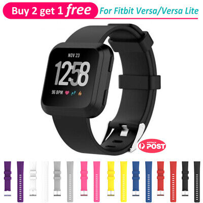 Replacement Band for Fitbit Versa /Lite Silicone Strap Wristband Fitness Tracker