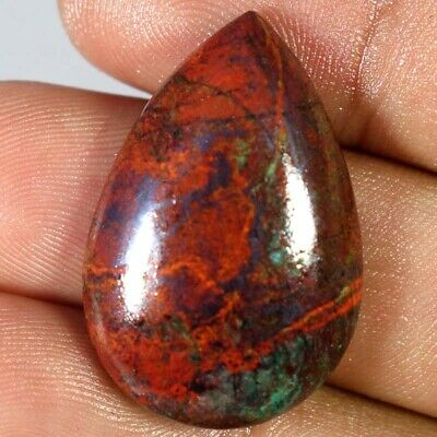 100% Natural Sonora Sunrise Chrysocolla Pear Cabochon 20 X 30 X 06mm 44.40Cts