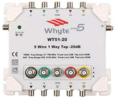 WT51-20 Series 5 5-Wire, 1-Way Tap, 20dB Loss - WHYTE