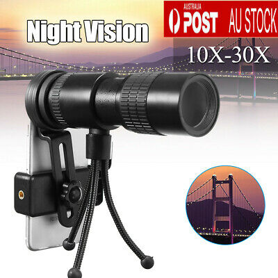 10-30X Zoom Telescope Telephoto Optical Monocular Camera Phone Lens Night Vision