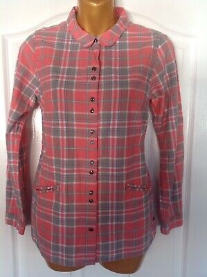 White Stuff Pink And Grey Long Sleeved Check Shirt Size 10