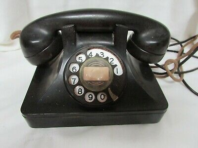 Antique The North Electric Rotary Dial Desk Telephone w/ Original Cords Galion O