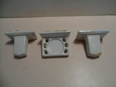 Porcelain Towel Rack Set And Matching Toothbrush Holder