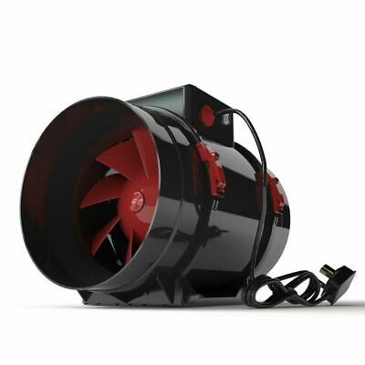 Black Orchid Hybrid Flo Twin 2 Speed Grow Room Tent Extraction Fan Hydroponics