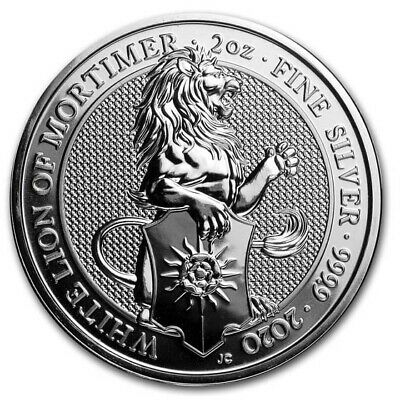 2020 Great Britain 2 oz Silver Queen's Beasts The White Lion - SKU#197697