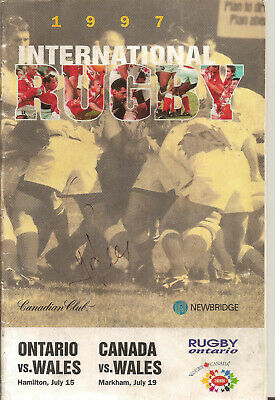 1997 INTERNATIONAL RUGBY:ONTARIO v WALES & CANADA v WALES:WELSH TOUR PROGRAMME