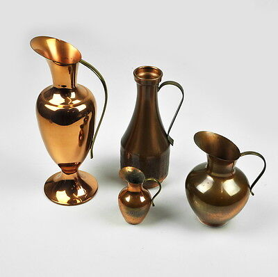 4 x Jug Copper - Small Convolute Copper Jugs - Vintage - Vases - Copper