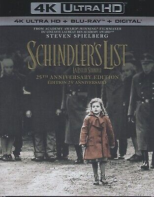 SCHINDLER'S LIST 4K ULTRA HD & BLURAY & DIGITAL SET with Liam Neeson & Spielberg
