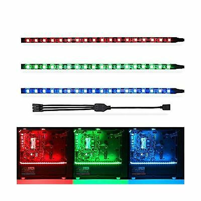 the latest 4cd38 53f6b WOWLED RGB GAMING LED Strip Lights (Pack of 3 Strips) for Mid Tower PC  Case... .
