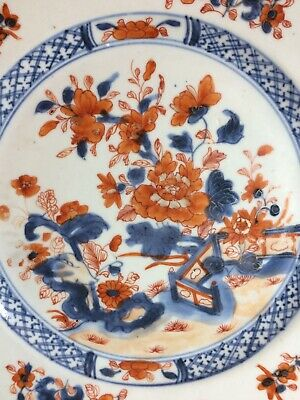 very rare antique Chinese Export porcelain plate Qing dy c 1730 Chinese Imari