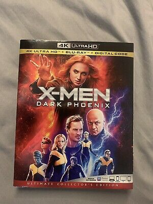 X-MEN DARK PHOENIX (4K + Blu Ray + NO Digital!) with Slip Cover (Free Shipping!)