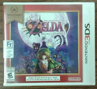 The Legend of Zelda Majora's Mask 3D (Nintendo 3DS Selects, 2015) Y-fold Sealed