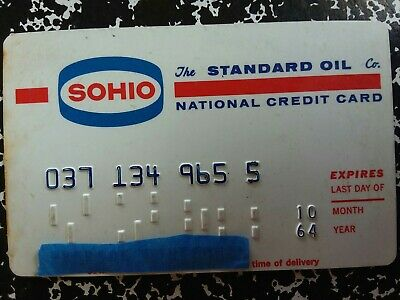 Standard Oil SOHIO NationalCredit Card 1964 Vintage Collectible