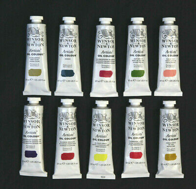Winsor and Newton artists oil paint 10 x 37ml tubes series 2. Ten colours.