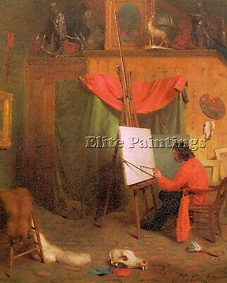 American Barbe William Holbrook Americaine 1824 1900 Artiste Tableau Peinture M