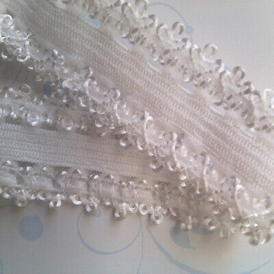 10 Yards Elastic Lace Trim Crochet Centipede Braid Wedding Sewing Bridal Ribbon