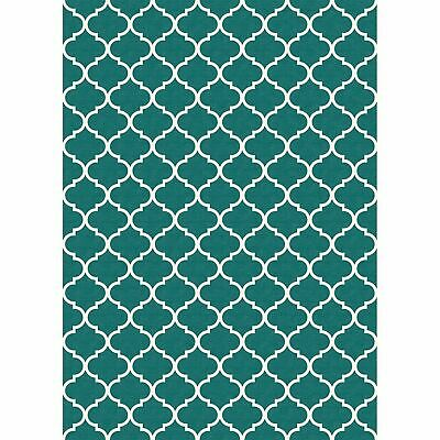 Ruggable Washable Moroccan Trellis Teal 3' x 5' Stain Resistant Accent Rug