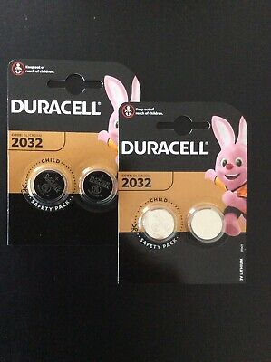 4 x Duracell CR2032 3V Lithium Coin Cell Battery 2032 button DL2032 NEW Edition