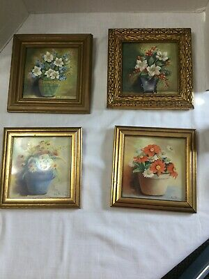 Vintage Bess Whitridge Hand painted Framed Tile Choice 1 of 4