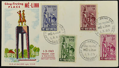 Vietnam 1963 Womens Day Used Set FDC First Day Cover #C53775