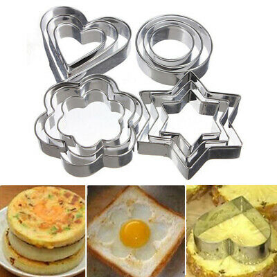 Baking Mould Nonstick Star Durable Stainless Steel Reusable Heart Biscuit