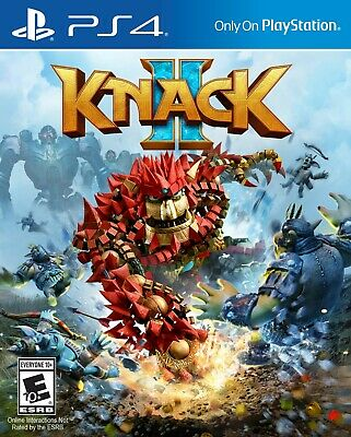 Knack 2 Two [Sony PlayStation PS4 Co-op Family Action Adventure SCEA] NEW