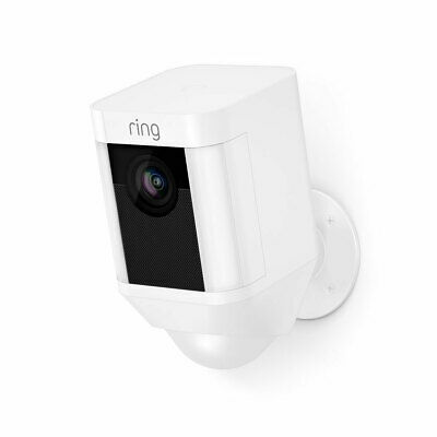Ring Spotlight Cam Battery Security Camera Wire-free - White 8SB1S7-WEN0