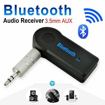 Wireless Bluetooth 3.5mm AUX Audio Music Receiver Stereo Speaker Car Adapter