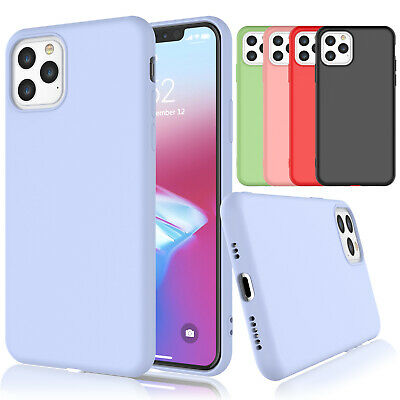 For iPhone 11,11 Pro, 11 Pro Max Liquid Silicone Case Soft Gel Rubber Slim Cover