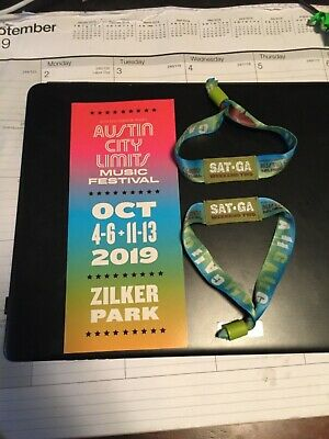 A Pair of Austin City Limits ACL Music Festival 2019 Weekend Two Wristbands