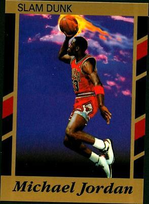 Rare Michael Jordan 1990-91 Slam Dunk Promo Card Chicago Bulls Wizards Unc