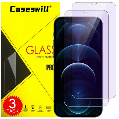 iPhone 11 Pro X XS Max XR 8 Plus Anti-Blue Light Tempered Glass Screen Protector