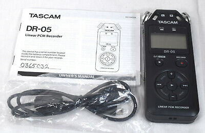 Excellent, Tested, Working TASCAM DR-05 Linear PCM Handheld Audio Recorder ++
