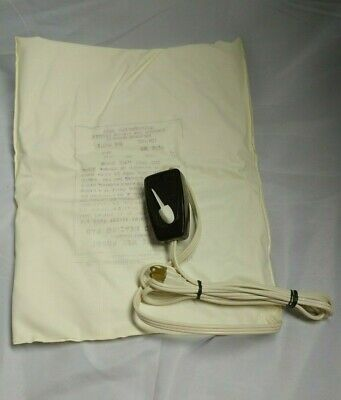 Vintage Red Line Electric Heating Pad Felt Cover 3 Settings Braille Type Switch