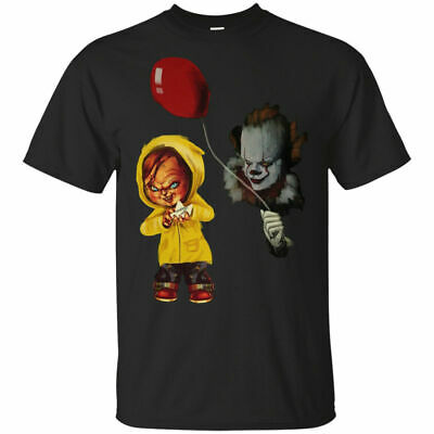 IT Stephen King Chucky and Pennywise Halloween Men's T shirt Size S - 3XL
