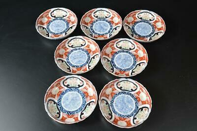 U4953: Japan Old Imari-ware Flower Arabesque pattern PLATE/Bowl/Dish Bundle sale