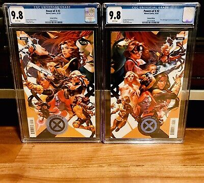 CGC 9.8 House of X #2 & Powers of X #2 Putri Connecting Variant Set NM MARVEL