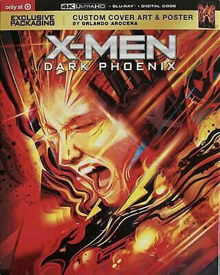 X-Men Dark Phoenix 4K Ultra Hd Uhd Blu-Ray Digital Target Custom Cover & Poster