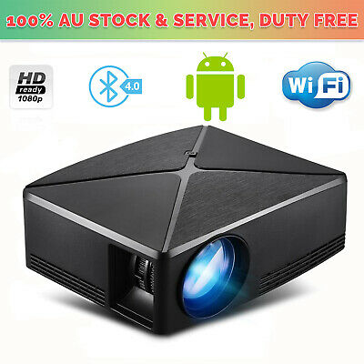 Smart 5000 Lumen Full HD Android6.0 LED Projector Home Theatre 1080p BT Wifi