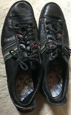 PS  Paul Smith Trainers BLACK LEATHER SIZE UK 6
