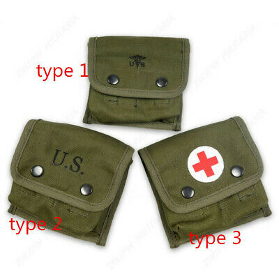 WWII WW2 US army  Jungle first aid kit army green three type