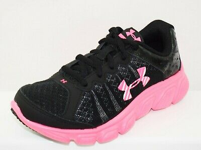 Under Armour Micro Assert 6 Kids Girls Trainers Brand New Size Uk C12 (Ck11)