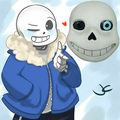 Halloween Party Undertale Cosplay Sans or Papyrus Natural Latex Mask Child Adult